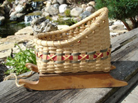 Christmas Card Sleigh Basket