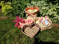 Plaited Heart Shaped Basket
